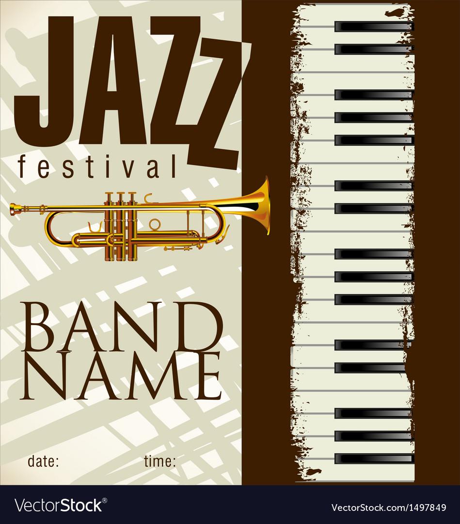 Jazz festival background vector | Price: 1 Credit (USD $1)