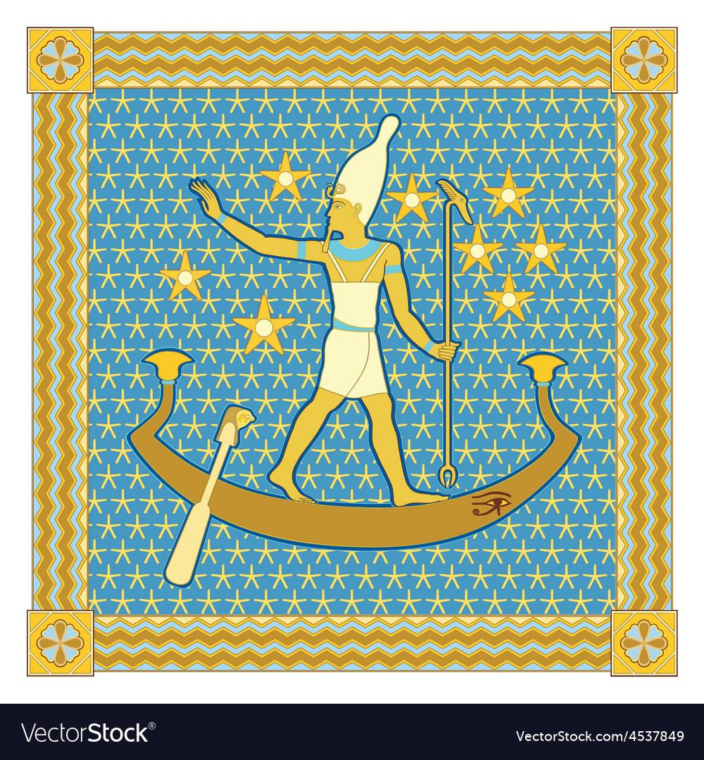 Pharaoh in the frame vector | Price: 1 Credit (USD $1)