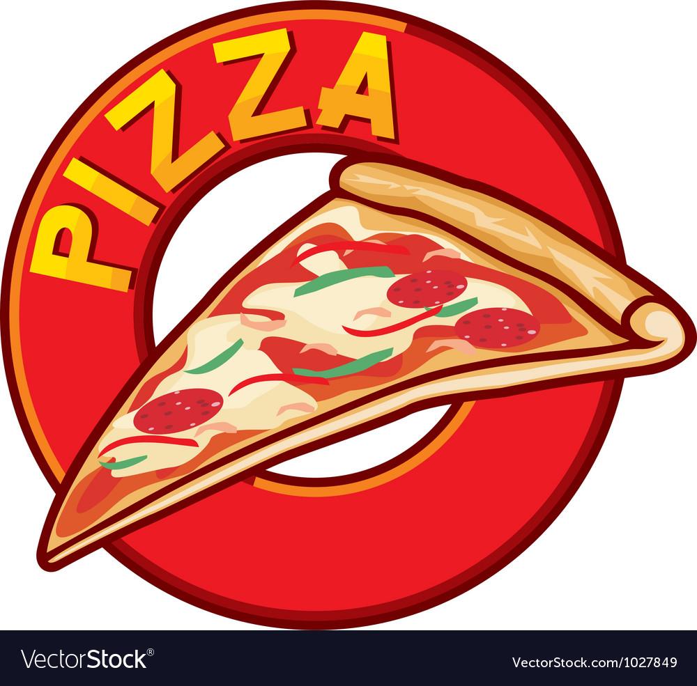 Pizza label design vector | Price: 1 Credit (USD $1)