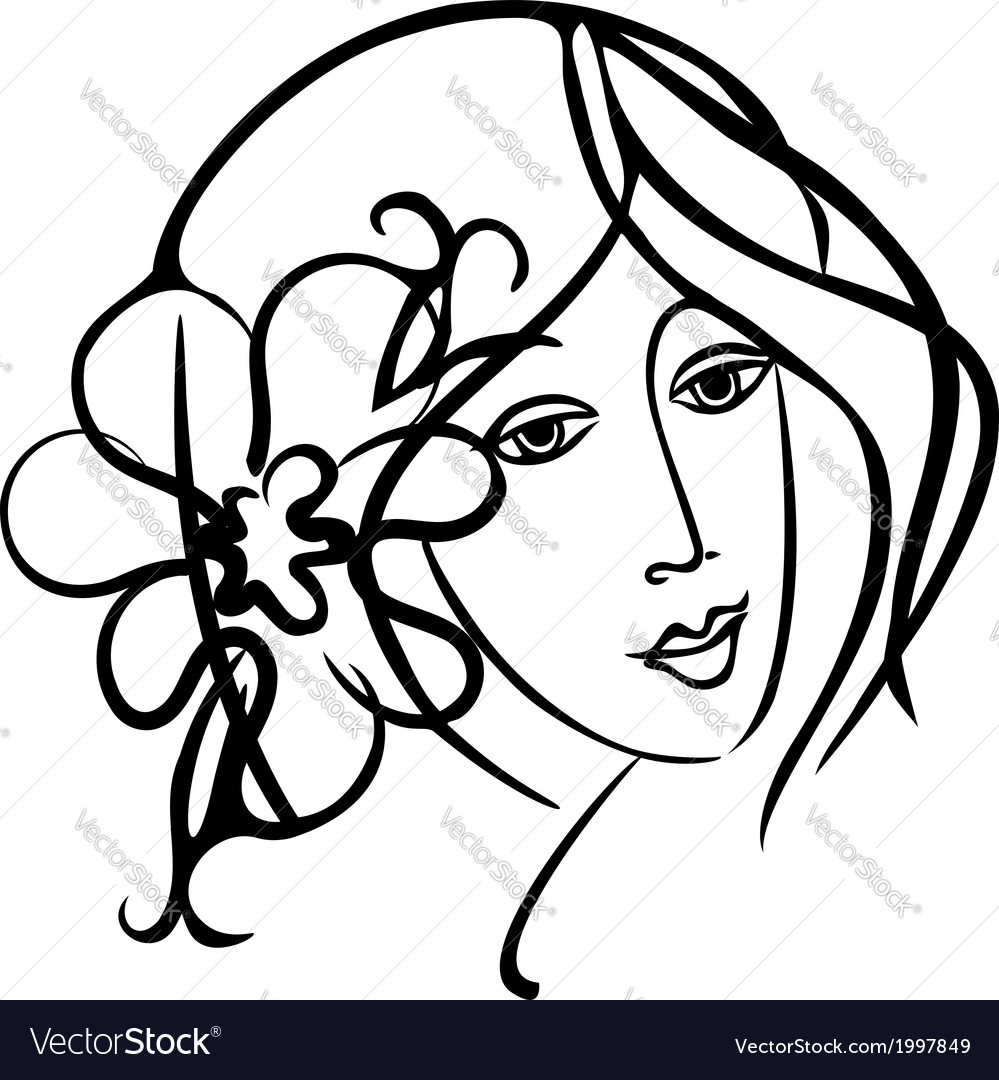 Simply beauty girl vector | Price: 1 Credit (USD $1)