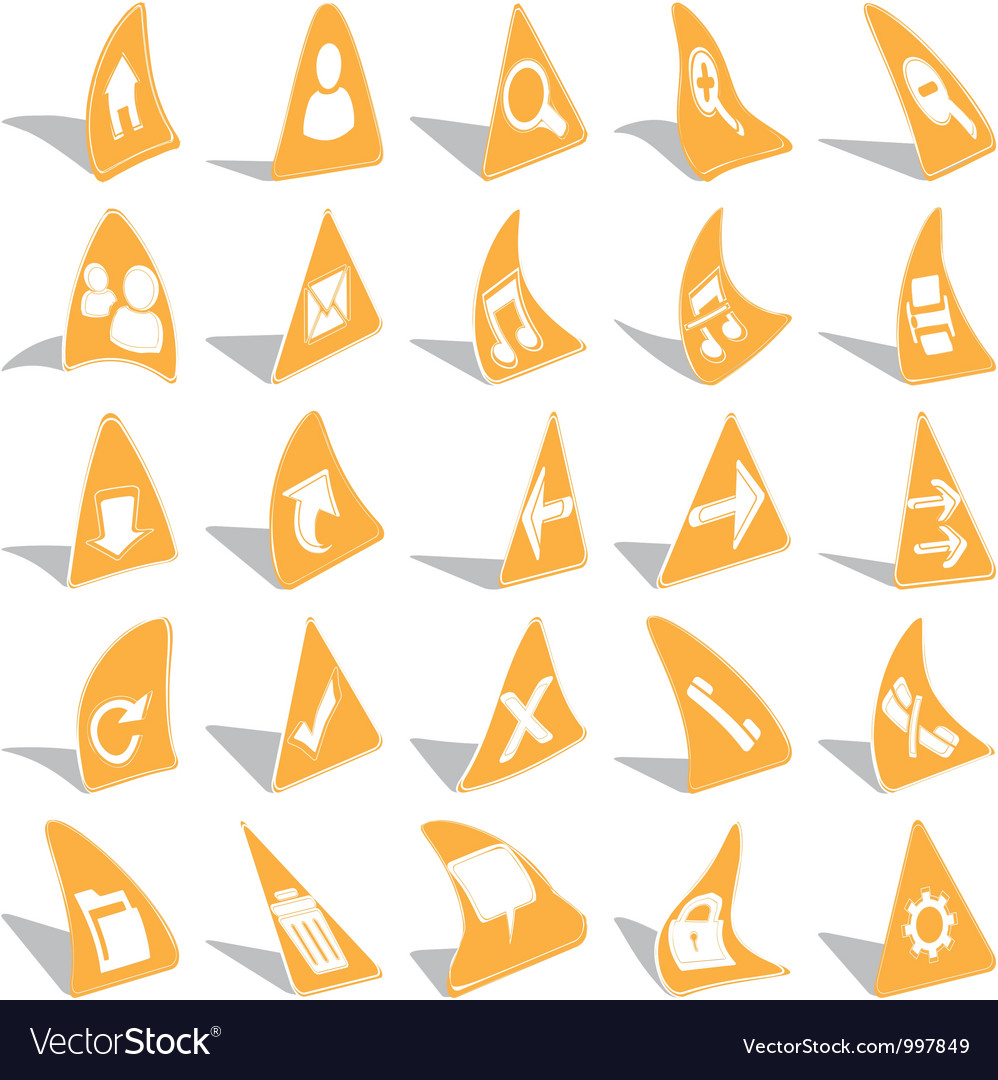 Triangular web icons vector | Price: 1 Credit (USD $1)