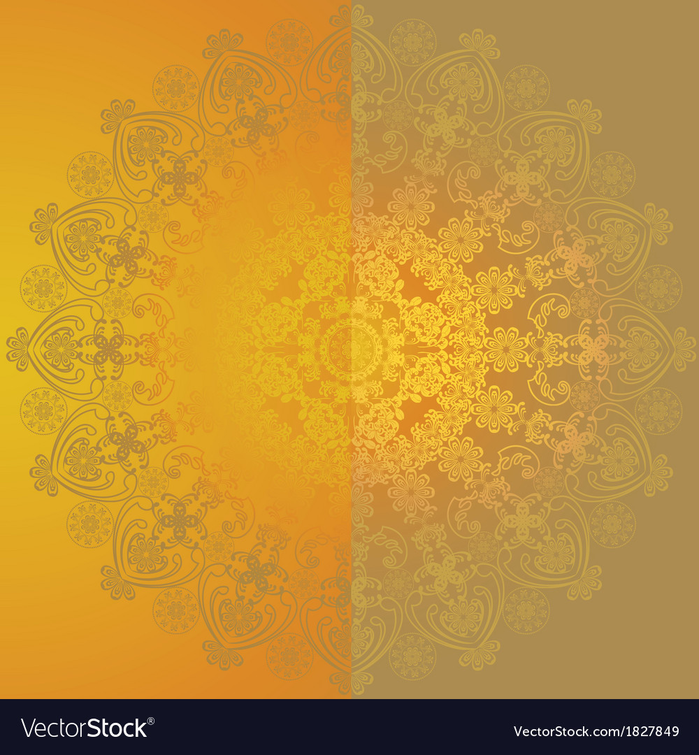 Yellow floral design6 vector | Price: 1 Credit (USD $1)