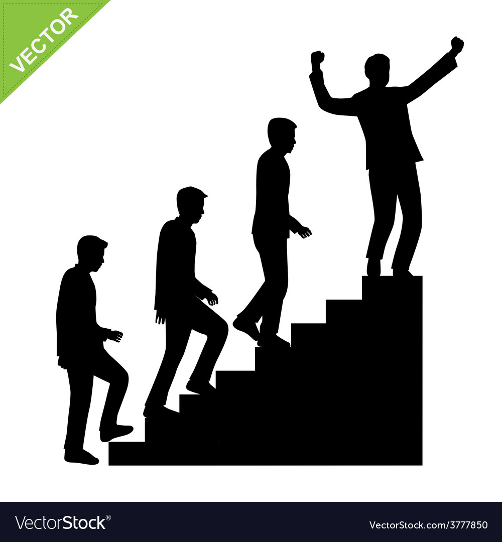 Business man silhouettes vector | Price: 1 Credit (USD $1)