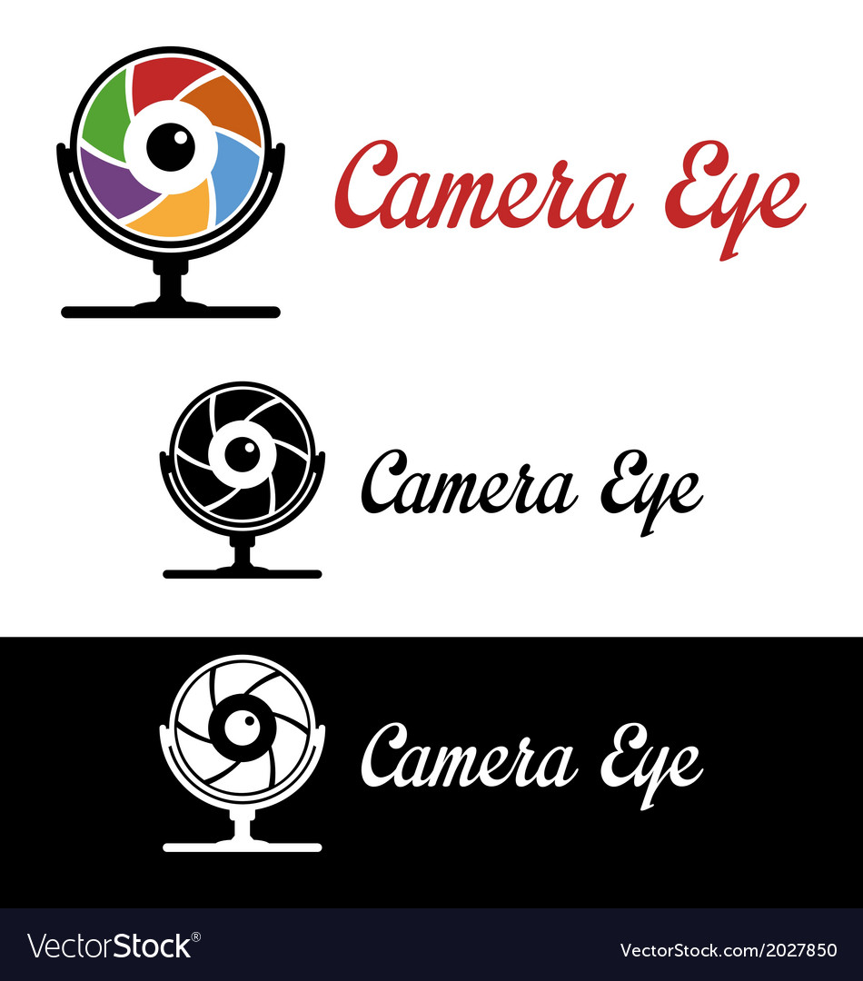 Camera eye logo vector | Price: 1 Credit (USD $1)