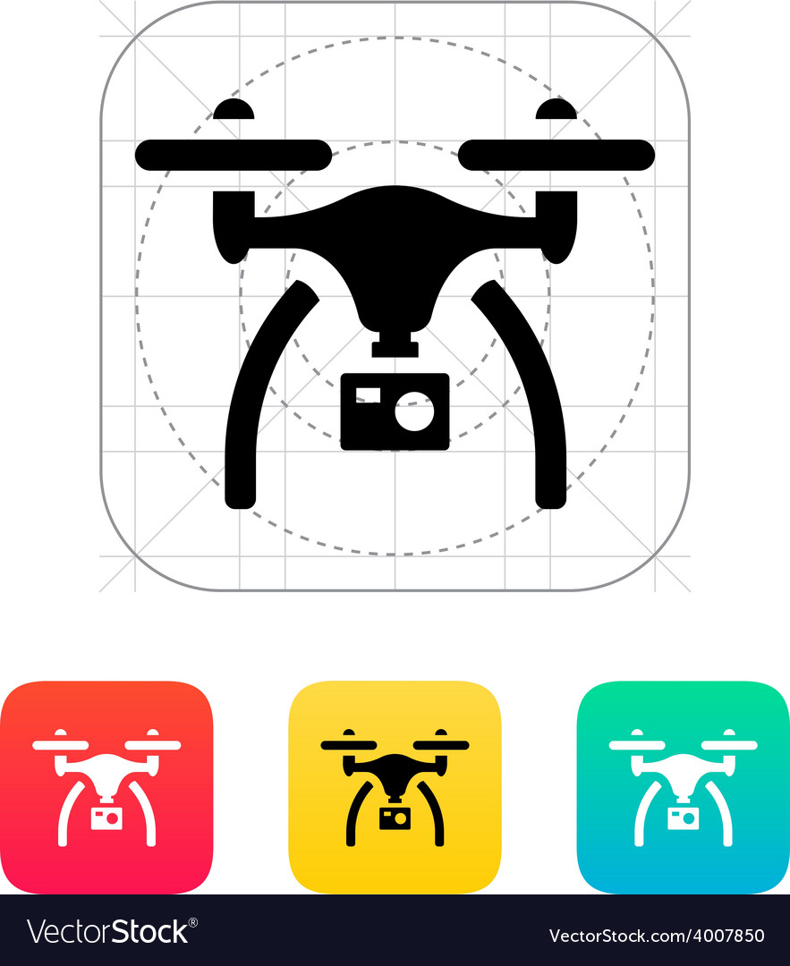 Drone with camera icon vector | Price: 1 Credit (USD $1)