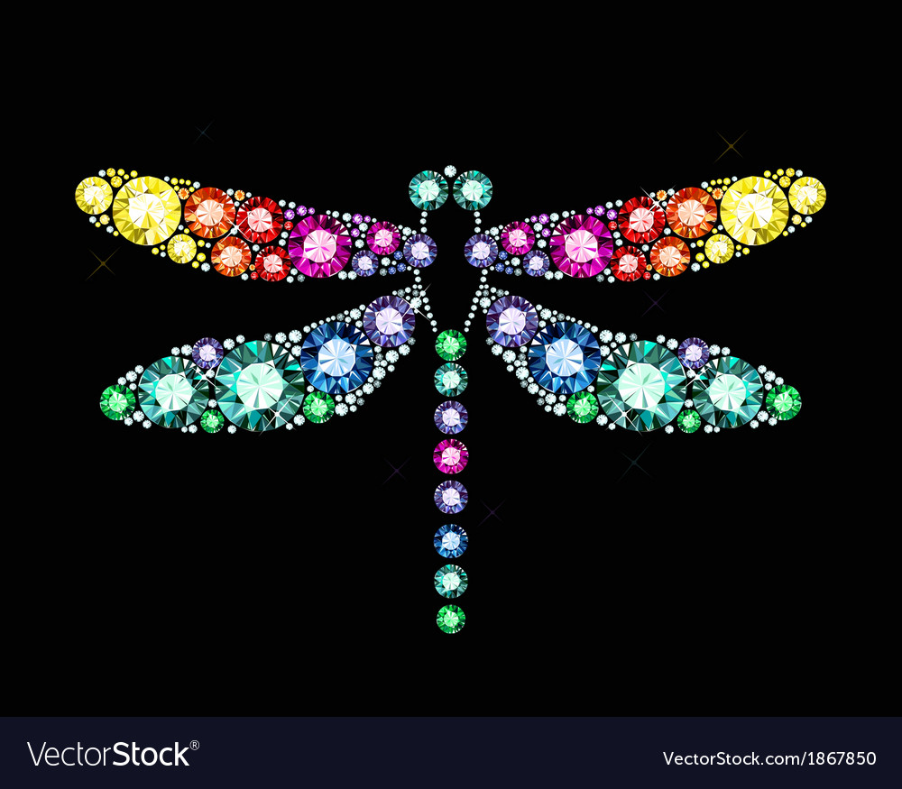 Gem dragonfly vector | Price: 1 Credit (USD $1)