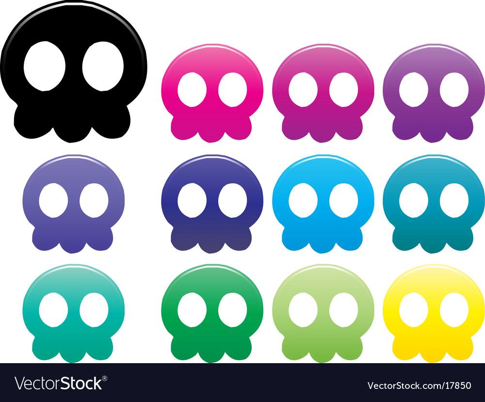 Jellyfish skulls vector