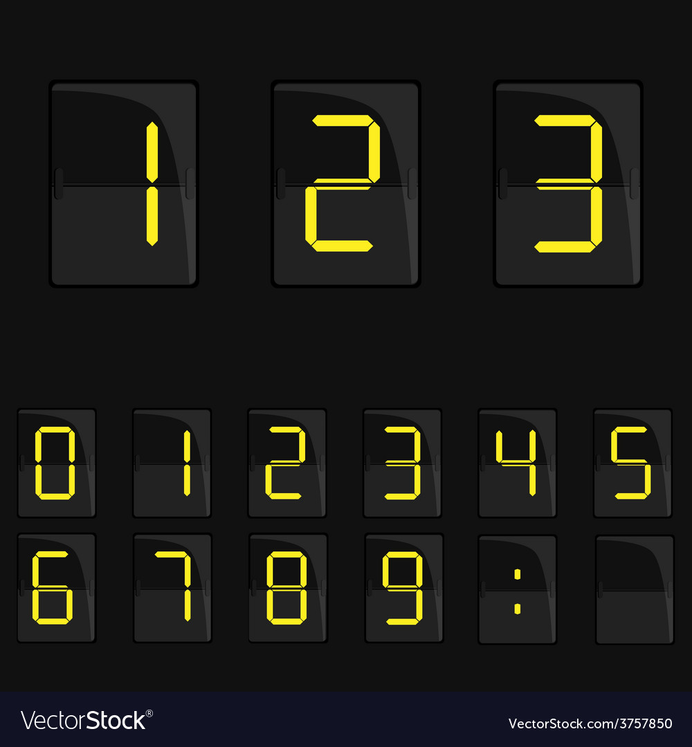 Mechanical panel with numbers vector | Price: 1 Credit (USD $1)