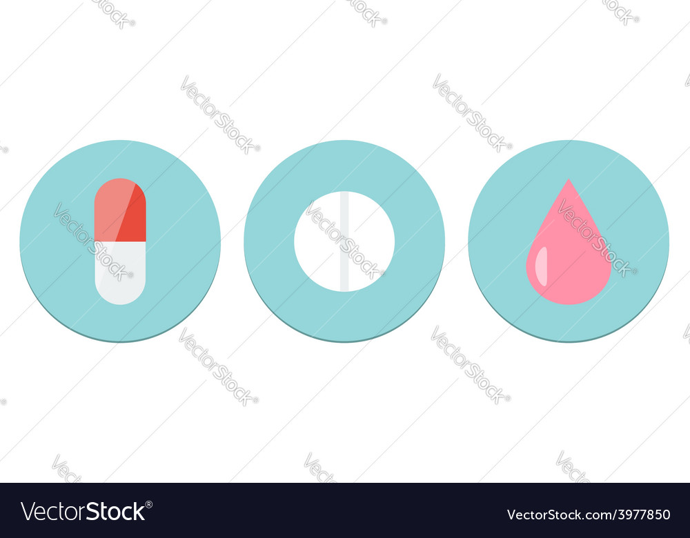 Meds icon set vector | Price: 1 Credit (USD $1)