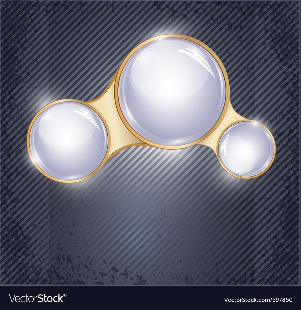Three glass balls vector | Price: 3 Credit (USD $3)