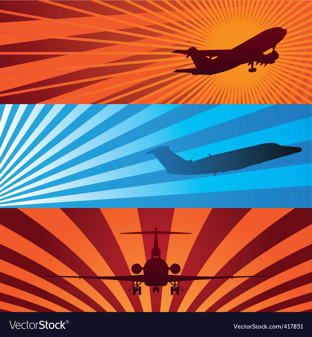 Airplane banners vector | Price: 1 Credit (USD $1)
