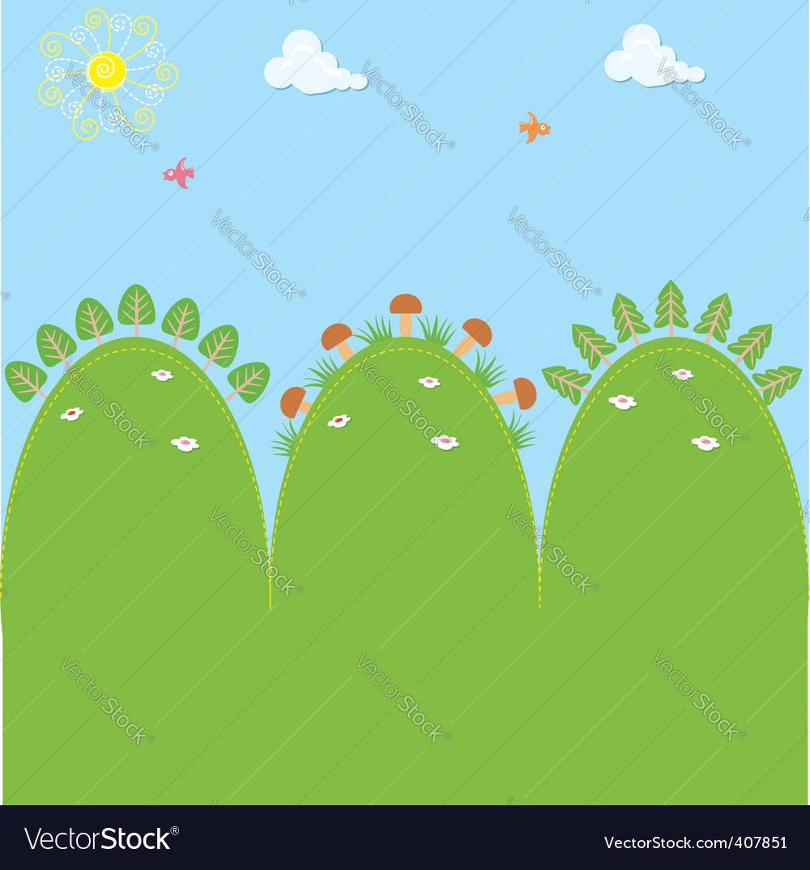 Cartoons landscape vector | Price: 1 Credit (USD $1)