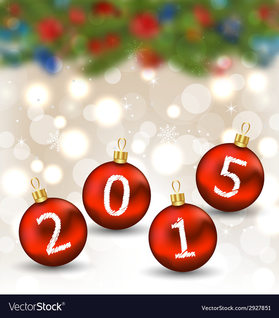 Happy new year in hanging glass ball vector   Price: 1 Credit (USD $1)