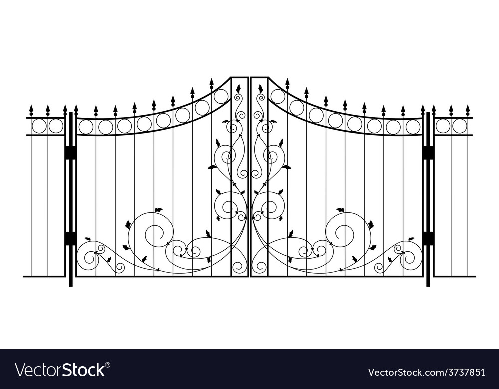 Iron gate vector | Price: 1 Credit (USD $1)