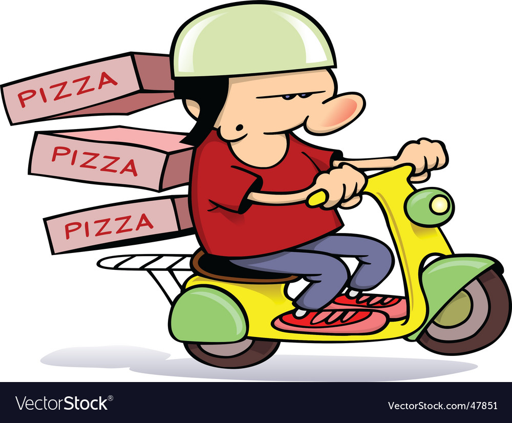 Pizza delivery boy vector | Price: 1 Credit (USD $1)