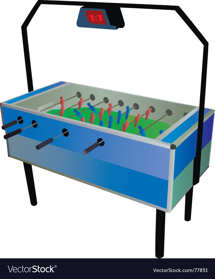 Table soccer vector | Price: 1 Credit (USD $1)