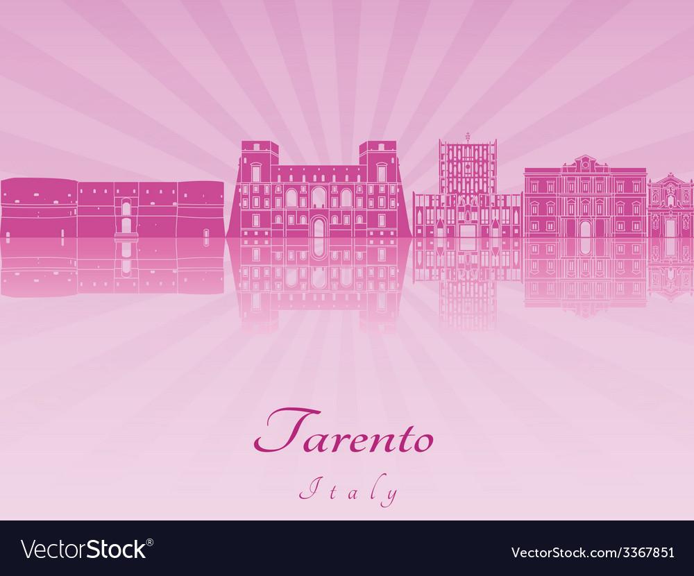 Tarento skyline in purple radiant orchid vector | Price: 1 Credit (USD $1)