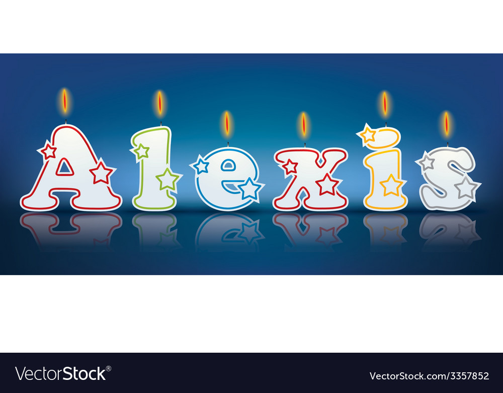 Alexis written with burning candles vector | Price: 1 Credit (USD $1)