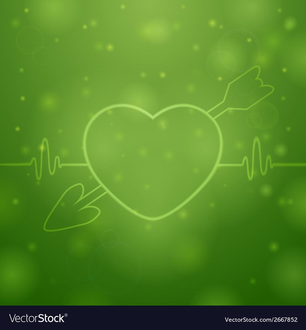 Arrow in the heart vector | Price: 1 Credit (USD $1)