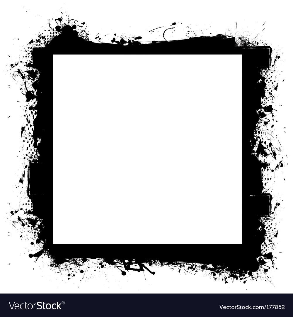 Black in border grunge effect vector | Price: 1 Credit (USD $1)