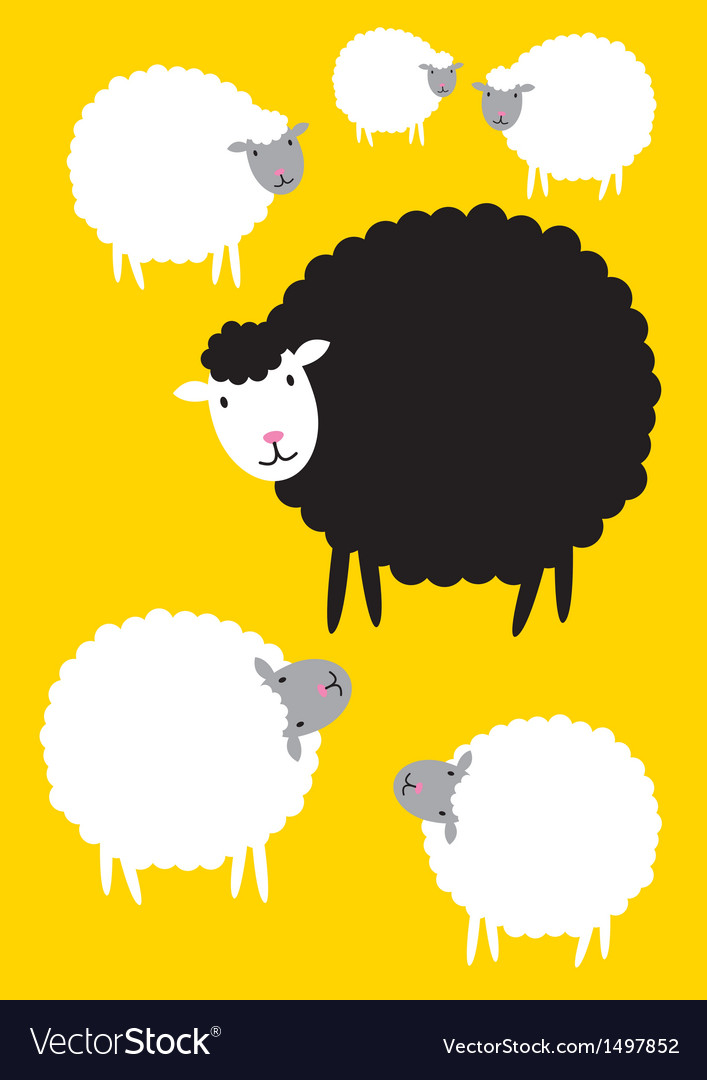 Black sheep concepts vector | Price: 1 Credit (USD $1)