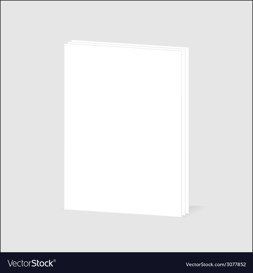 Blank sheet of paper with page curl vector | Price: 1 Credit (USD $1)