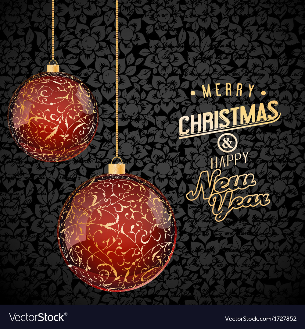 Christmas background with red and gold glass vector | Price: 1 Credit (USD $1)