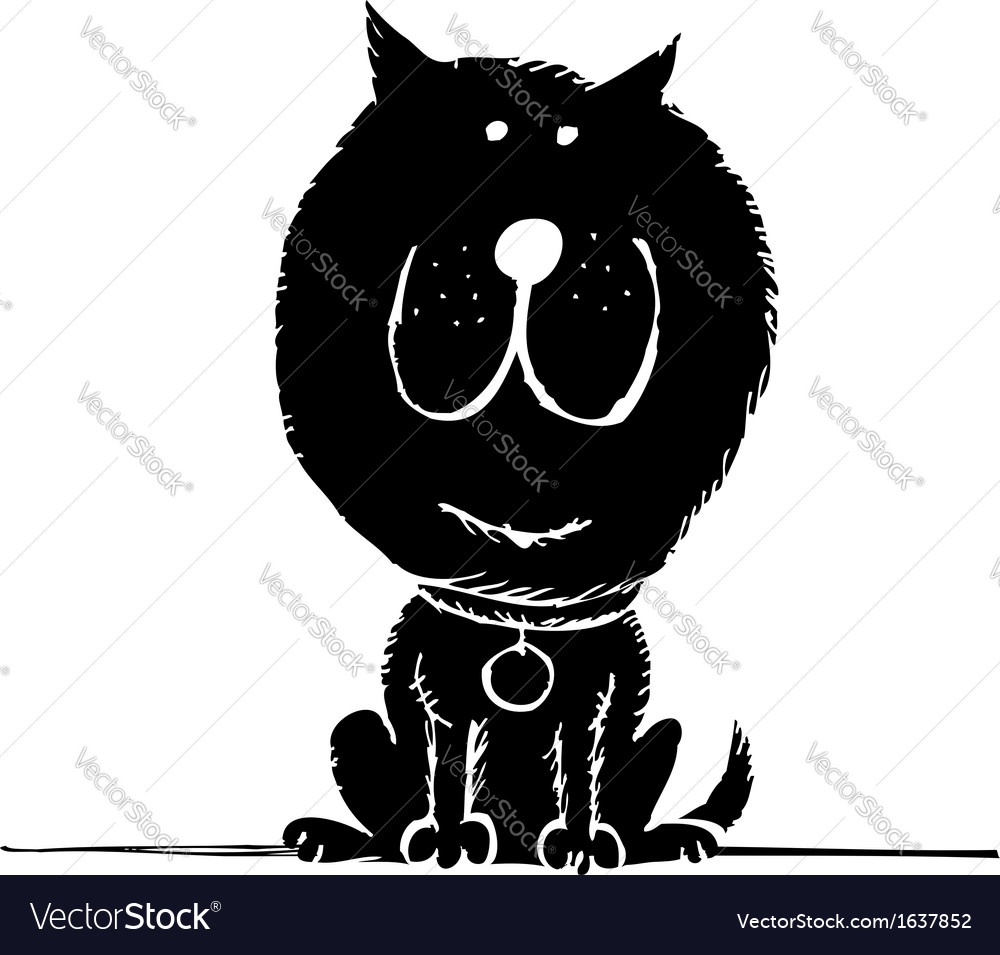 Funny dog sketch for your design vector | Price: 1 Credit (USD $1)