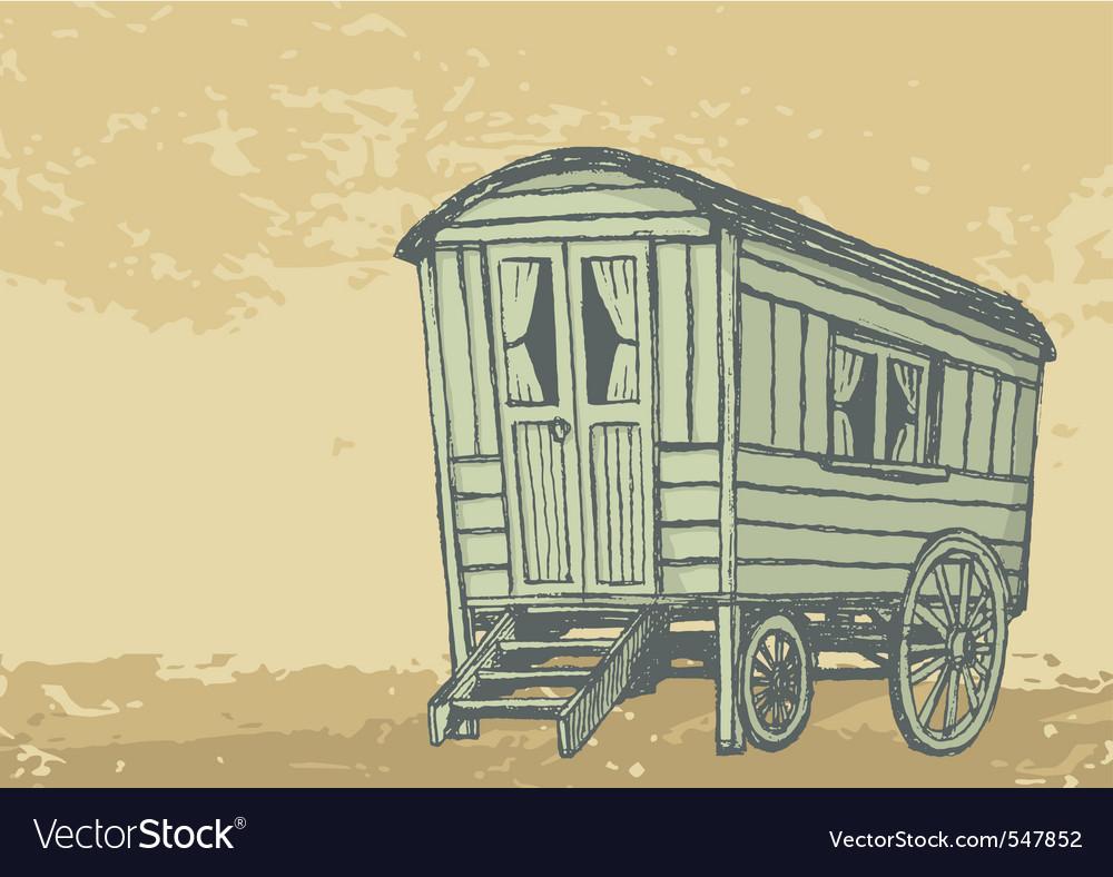 Gypsy caravan wagon vector | Price: 1 Credit (USD $1)