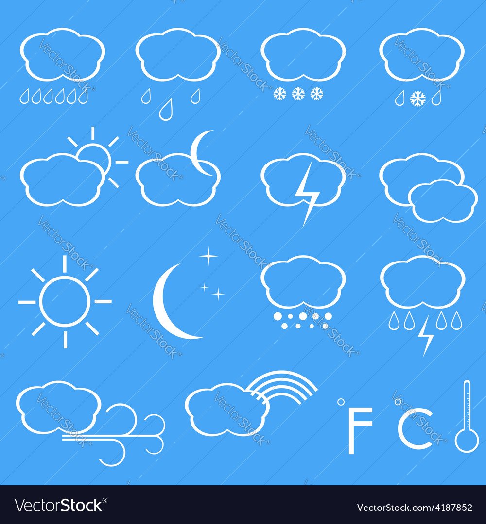 Icons of weather vector | Price: 1 Credit (USD $1)