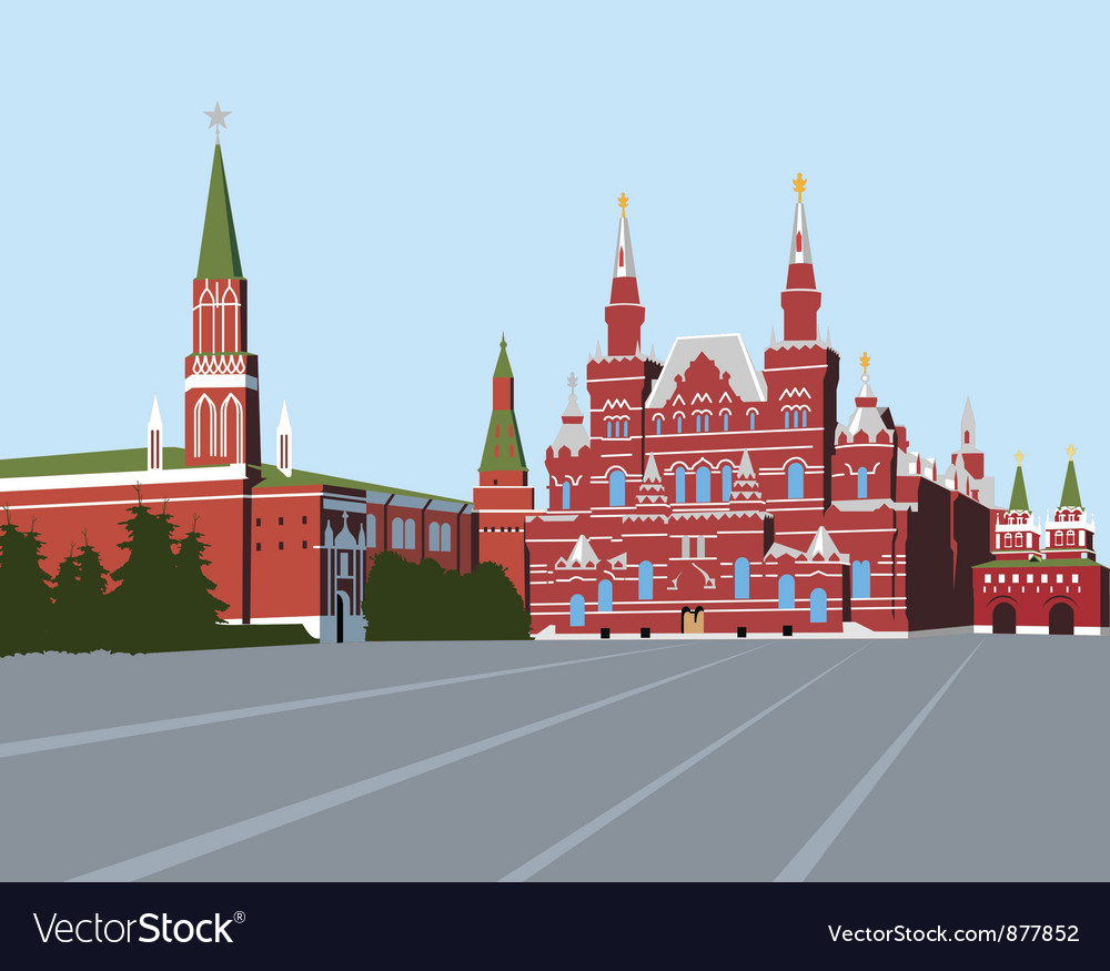 Red square moscow vector | Price: 3 Credit (USD $3)