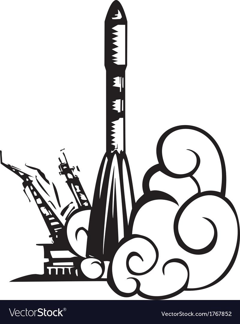 Russian soyuz rocket vector | Price: 1 Credit (USD $1)