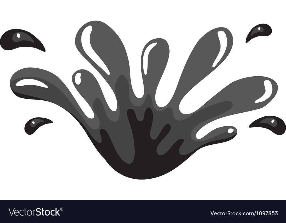 Black color splash vector | Price: 1 Credit (USD $1)