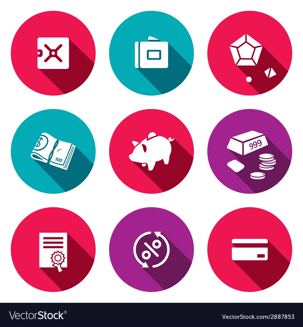 Finance icon collection vector | Price: 1 Credit (USD $1)