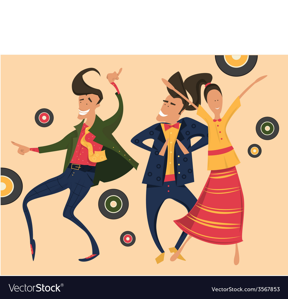 Hipsters retro party vector