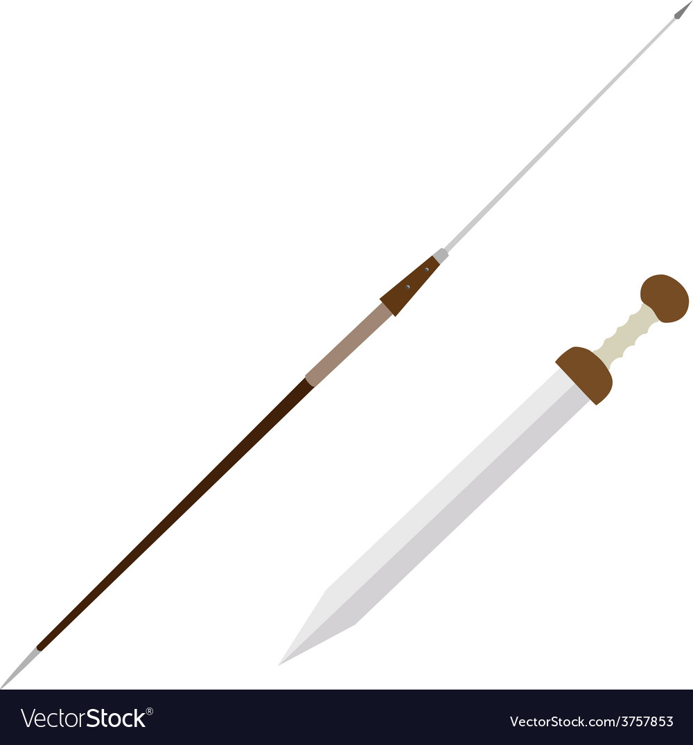 Pilum and gladius weapon vector | Price: 1 Credit (USD $1)