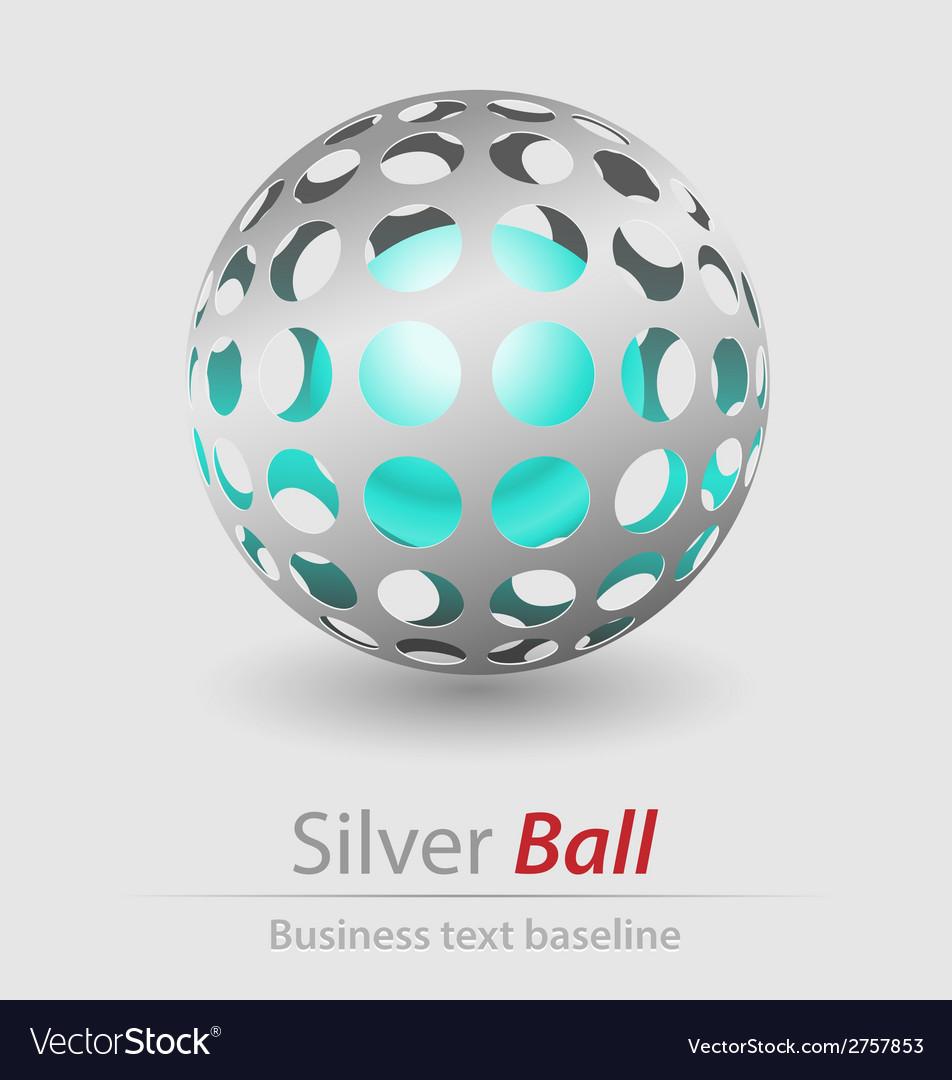 Silver ball elegant icon vector | Price: 1 Credit (USD $1)