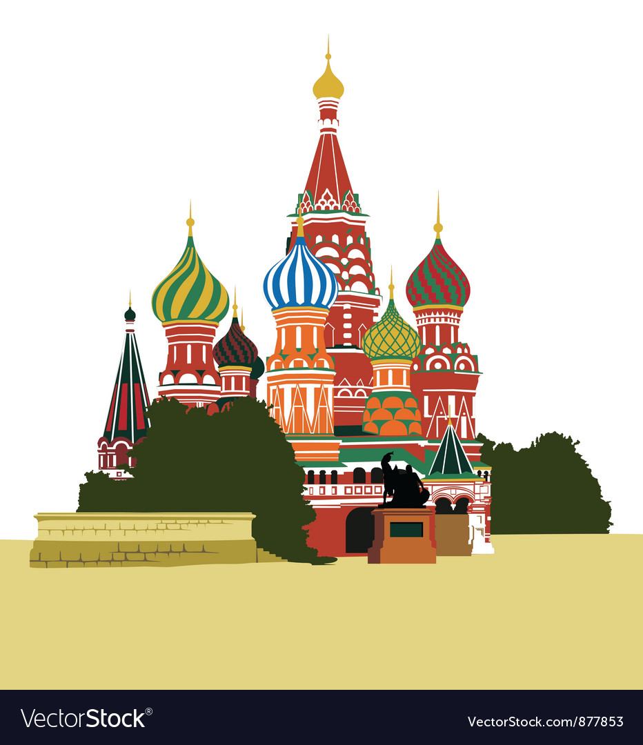 St basils cathedral on red square vector | Price: 3 Credit (USD $3)