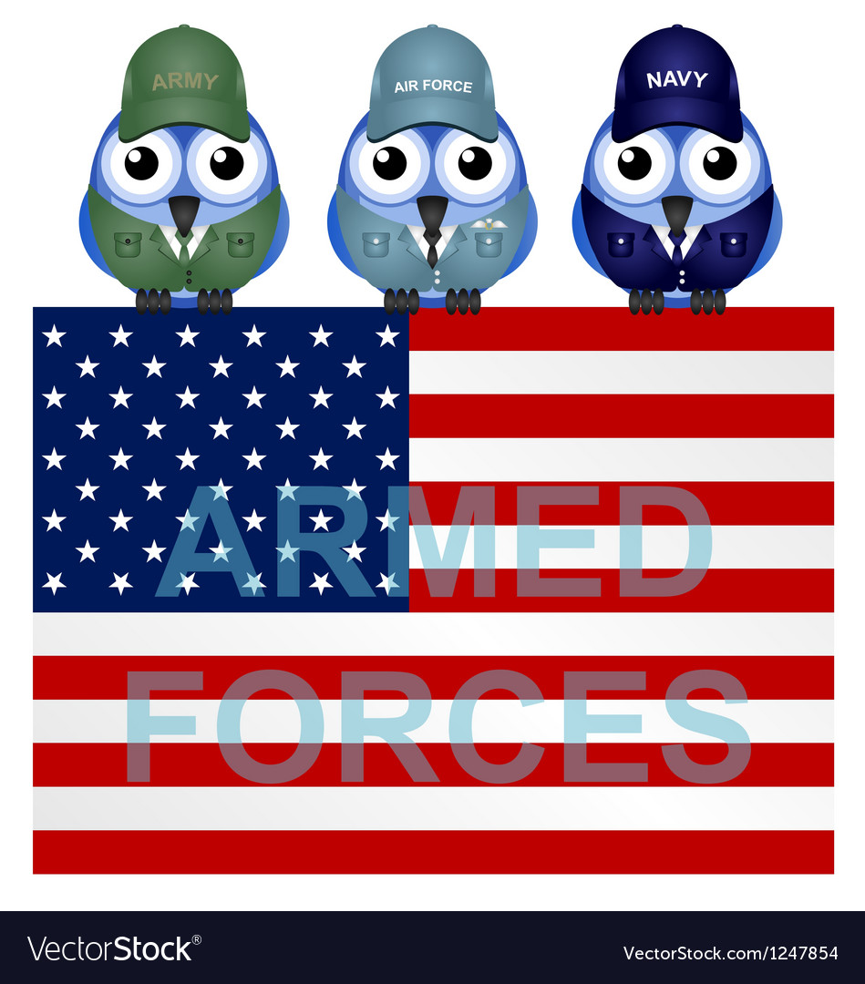 Armed forces usa vector | Price: 1 Credit (USD $1)