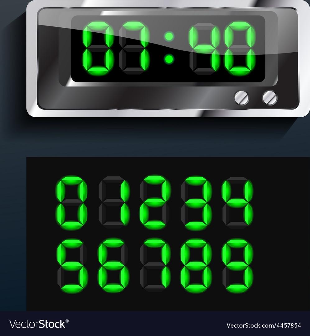Blue glowing digital numbers vector | Price: 1 Credit (USD $1)