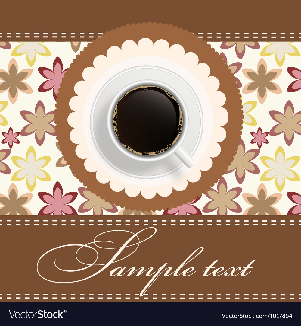Coffee invitation background vector | Price: 1 Credit (USD $1)