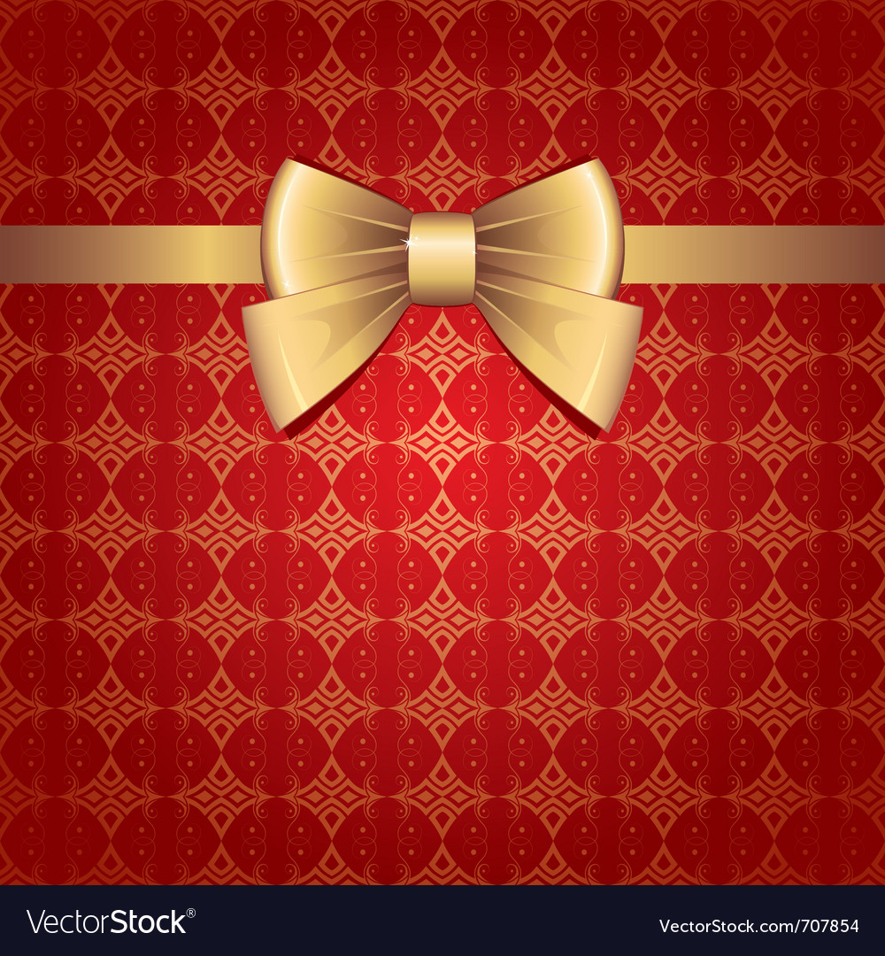 Gold bow vector | Price: 1 Credit (USD $1)