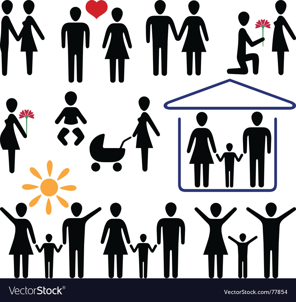 Love and family vector | Price: 1 Credit (USD $1)