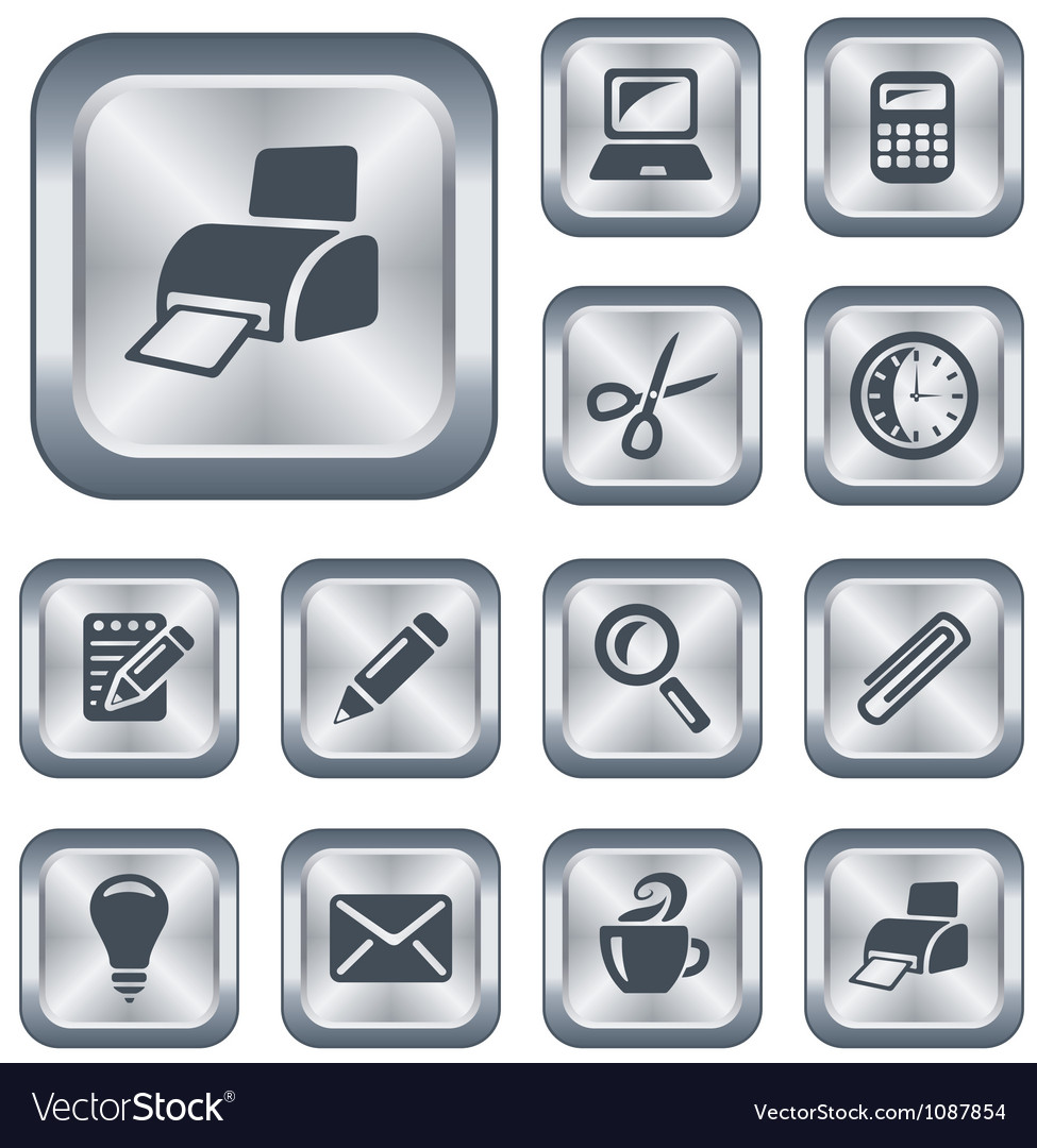 Office buttons vector   Price: 1 Credit (USD $1)