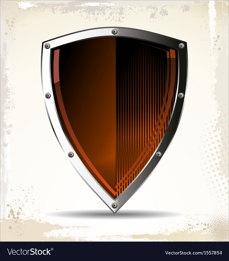 Orange shield vector | Price: 1 Credit (USD $1)