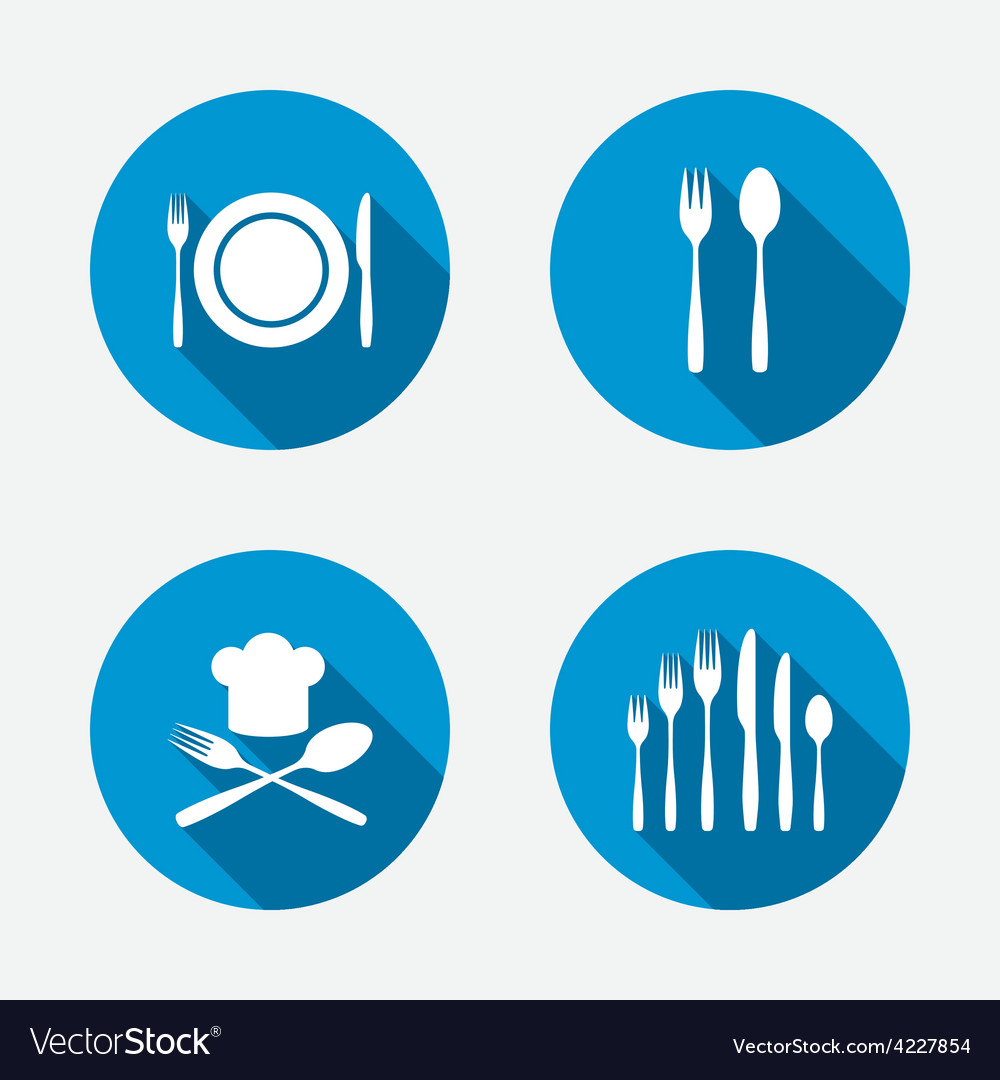 Plate dish with forks and knifes icon chief hat vector | Price: 1 Credit (USD $1)