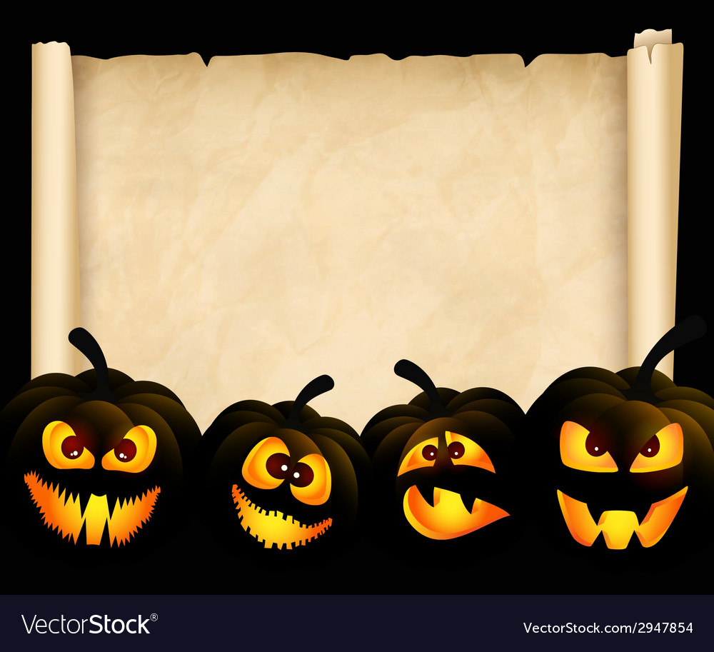 Pumpkins on the background of papyrus vector | Price: 1 Credit (USD $1)