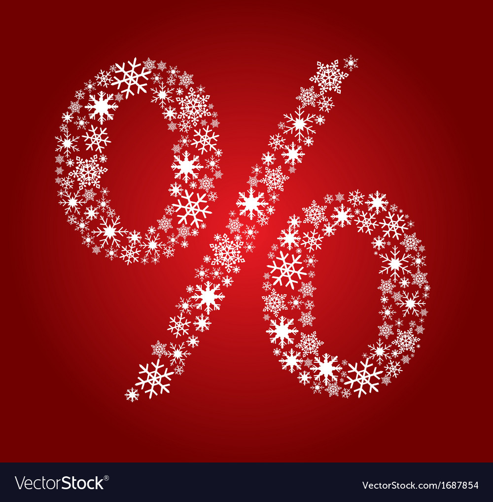 Star percentage symbol vector | Price: 1 Credit (USD $1)