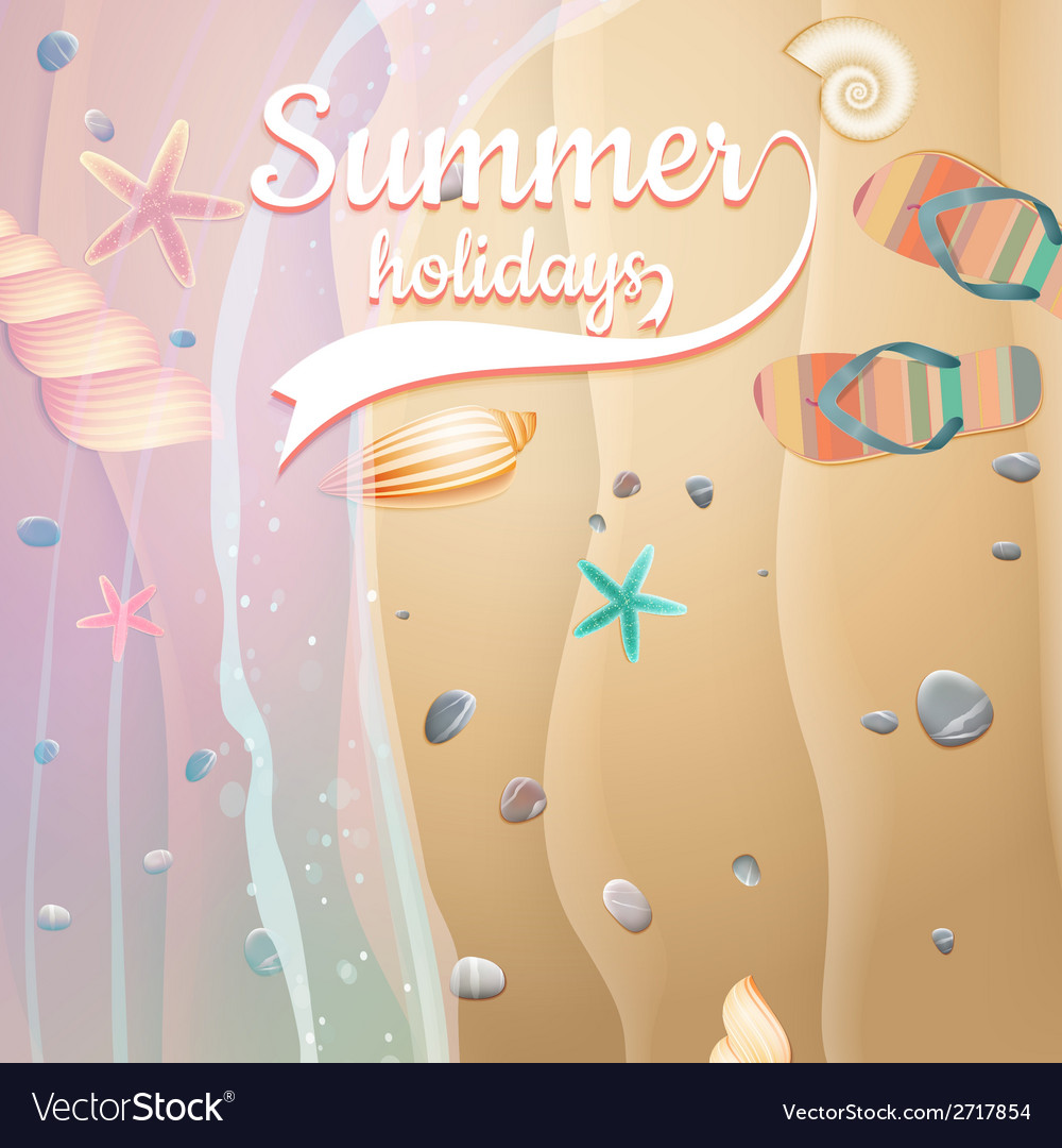 Summer holidays template plus eps10 file vector   Price: 1 Credit (USD $1)