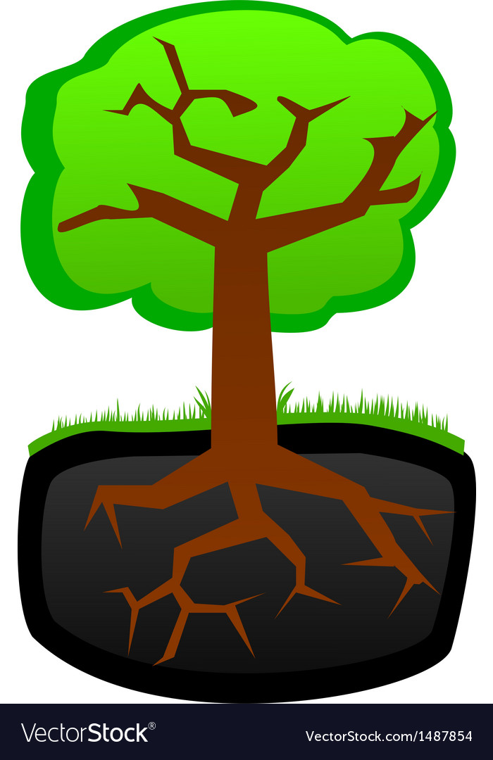 Tree roots and krone vector | Price: 1 Credit (USD $1)
